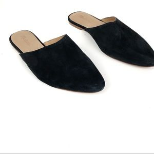 Madewell Remi Mule Black Suede Slides Shoes 7.5
